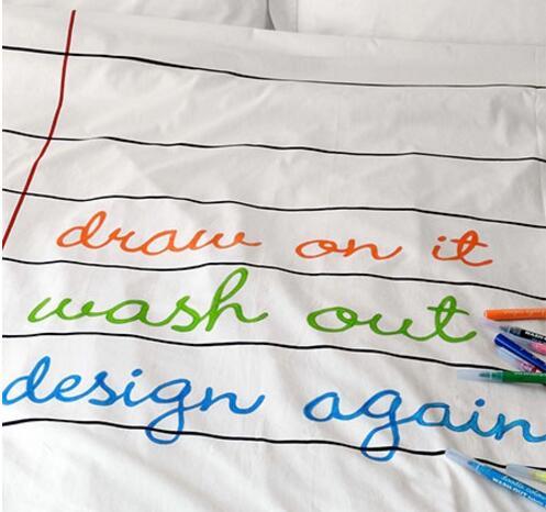 超便利清洗的创意床单,随意涂画都可以瞬间干净