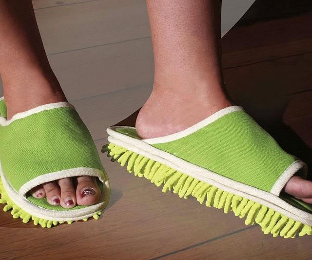 可以拖地的创意拖鞋