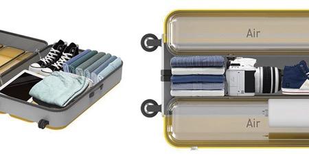 内藏充气囊的创意行李箱(Air Pack)