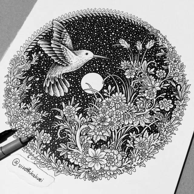 柬埔寨插画家的魔法涂鸦