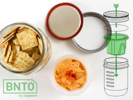 干湿分离的创意食物罐(Mason Jar)