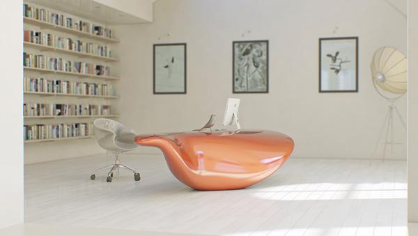 Vulna流动桌子设计