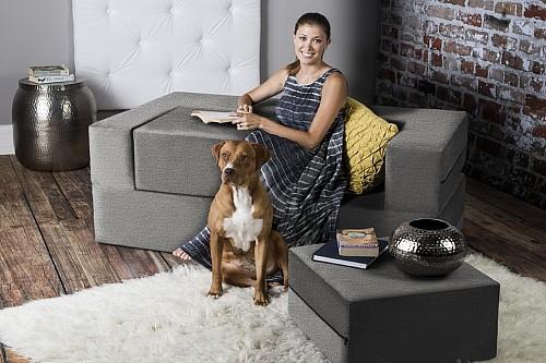 Dan Basmajian设计的模块化沙发床Zipline