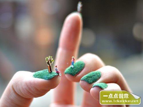 指甲上的创意