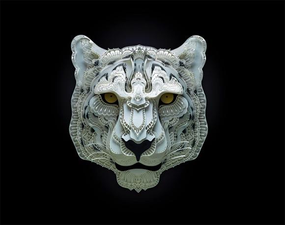 艺术家Patrick Cabral的美妙濒危动物剪纸