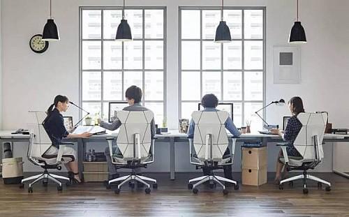 """灵活的""""折纸""""办公椅创意设计"""