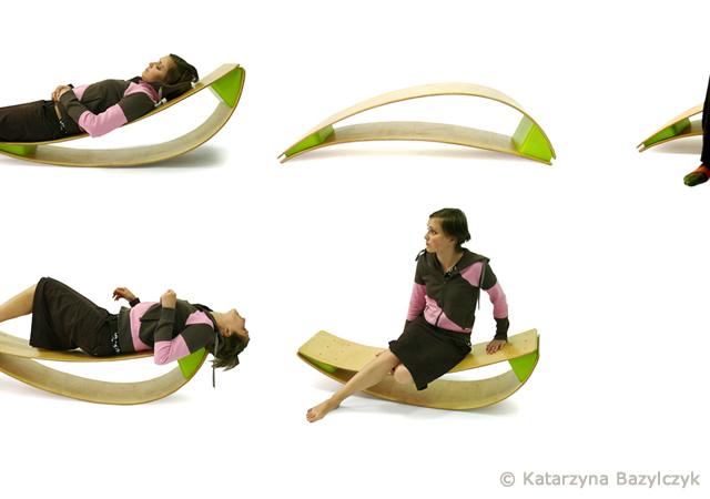Katarzyna Bazylczyk设计的户外摇椅