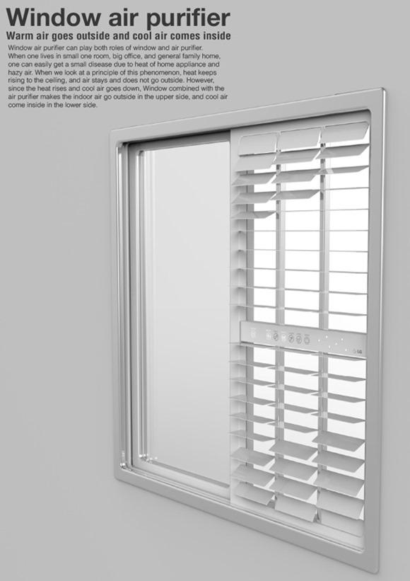 窗户上的空气净化器