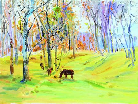 主题共创作了80余件雕塑油画作品,无论立马,奔马,走马,还是饮马,群马图片