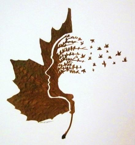 用刀和针刻画落叶,被这种创意美哭了