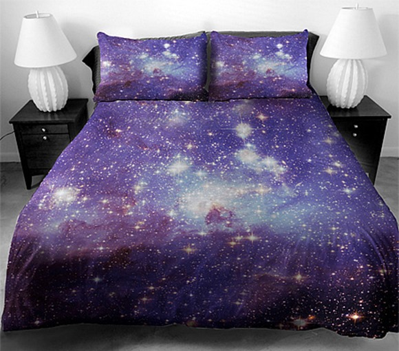 极美的银河系床单