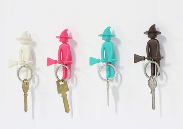 可爱的女巫钥匙扣