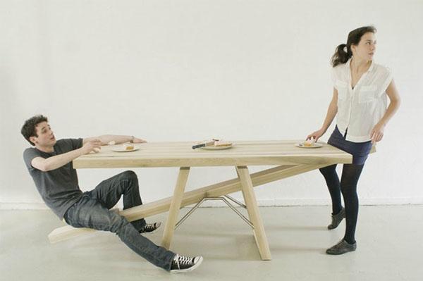 情侣跷跷板餐桌