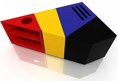 可自由变形的折叠桌D*Table