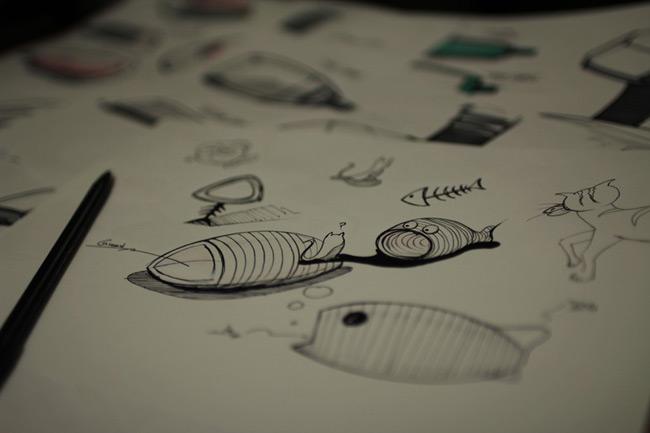 """美到爆的""""鱼骨形宠物房"""""""