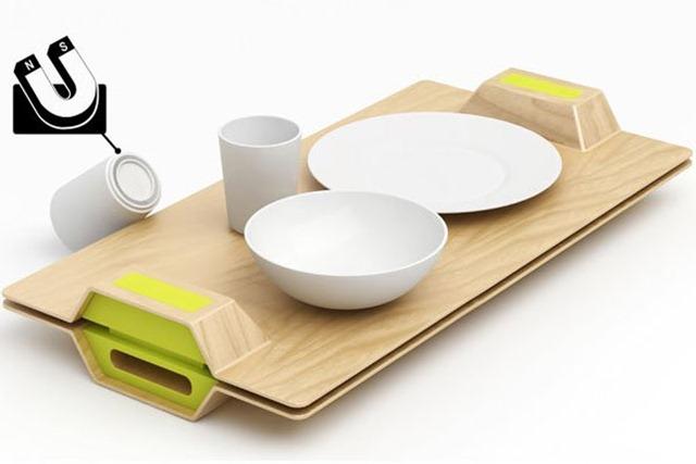 又不小心摔碗了?你需要一套创意磁力餐具!