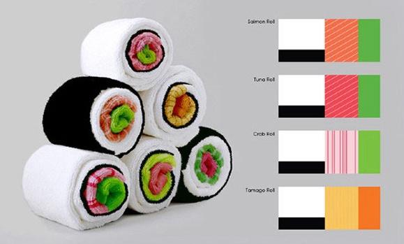 让人垂涎欲滴的寿司毛巾