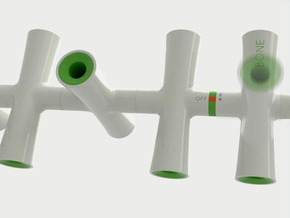 打破传统的骨骼模块化的活动电源插座(Bone)