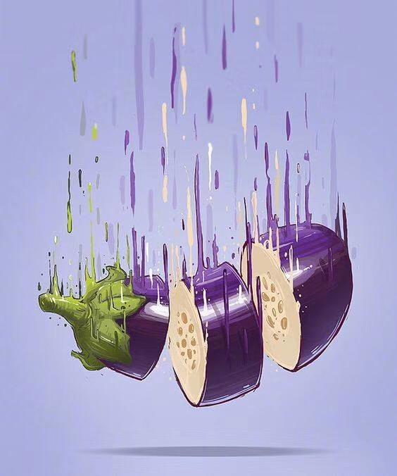创意水果忍者艺术画