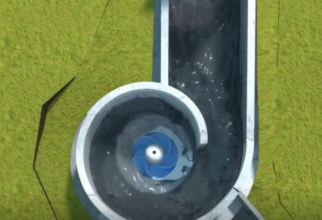 水力涡轮发电机涡Turbulent,简便成本低廉