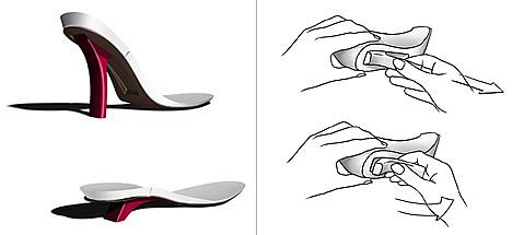 可以调节高度的创意高跟鞋