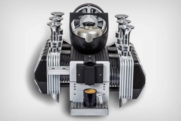 来自保时捷引擎的咖啡机