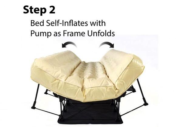 自动伸展和折叠的双人充气床,方便又实用