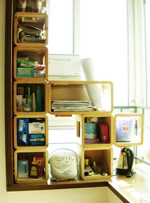 简约风格组合式创意书柜、手提箱书柜等两组组合柜产品