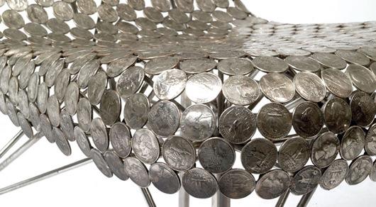 个性精美的硬币家具创意设计作品