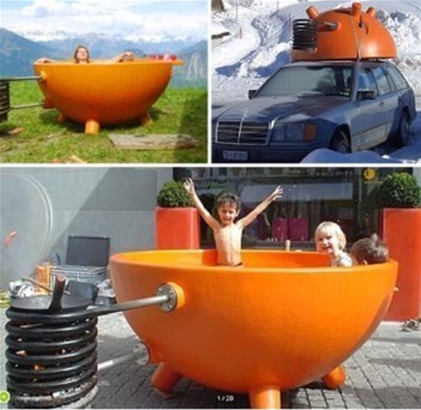 可移动的软浴盆和德国创意阴阳浴缸创意设计