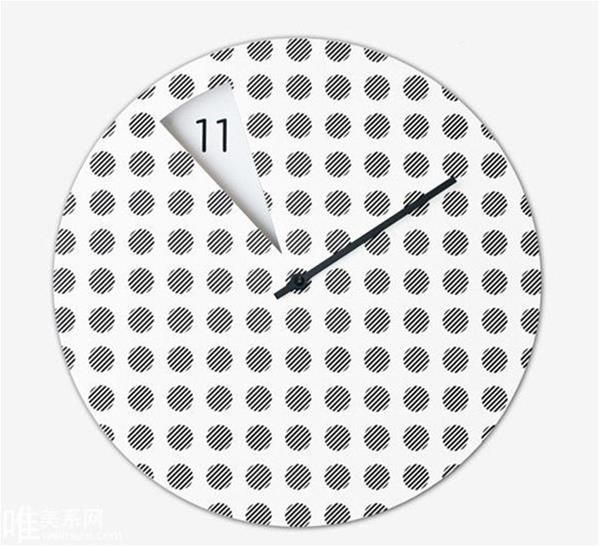 无信号挂钟图案和大胆而富有创意的极简挂钟设计