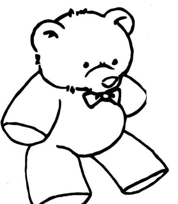 简笔画大全卡通动物之13张玩具熊简笔画的画法
