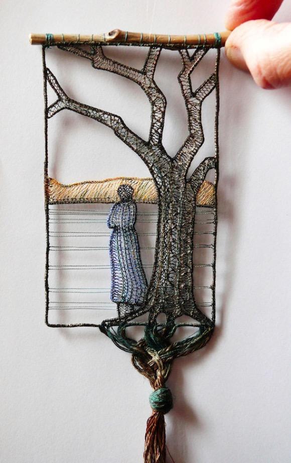 树枝的编制绘画艺术