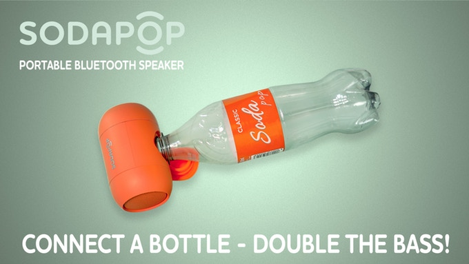 可与塑料瓶搭配使用的音箱