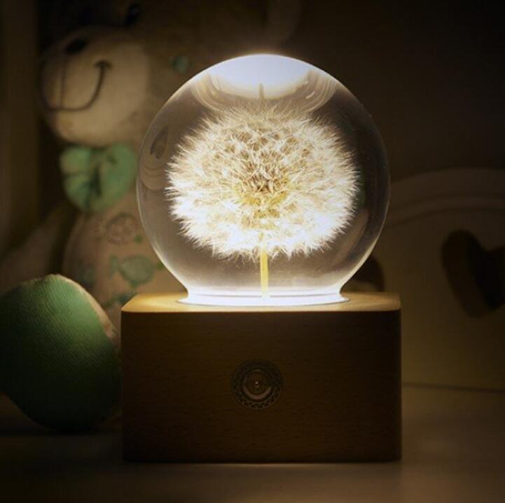可爱的蒲公英氛围灯