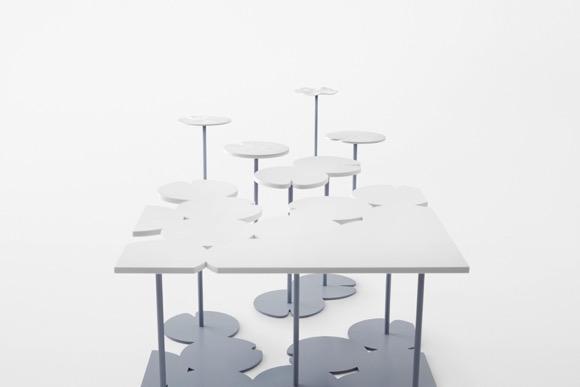 荷花阵桌子