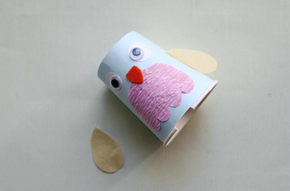 手工diy可爱的纸杯小企鹅制作方法图解教程