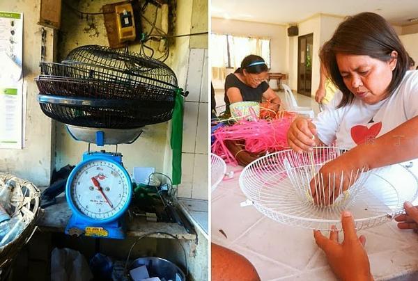 艺术吊扇、废旧电风扇改造成的创意家具家居用品