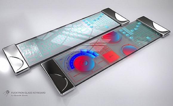 来自未来的玻璃键盘