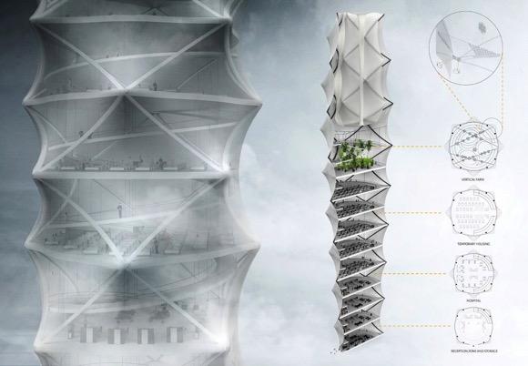 折叠压缩大楼