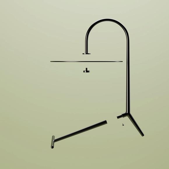 吊灯的外形,桌子的心