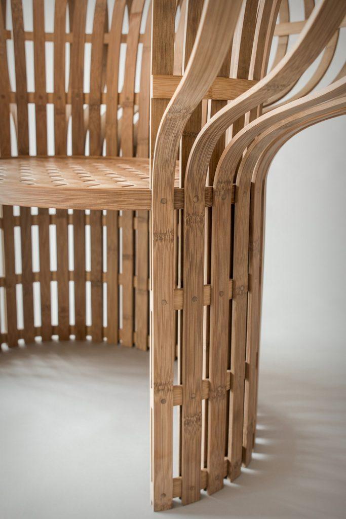 自然古朴的竹篾椅子