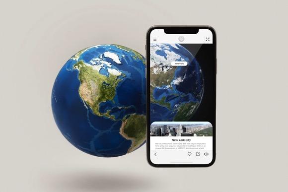 AR互动地球仪
