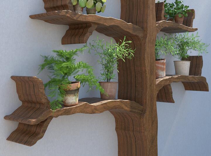创意树形橡木花架