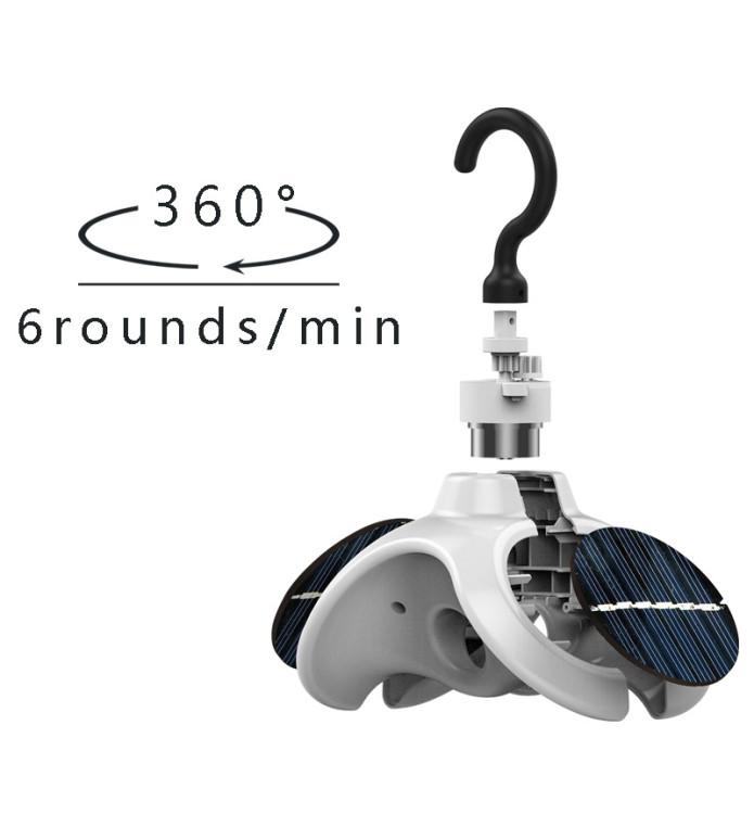 自动旋转太阳能衣架