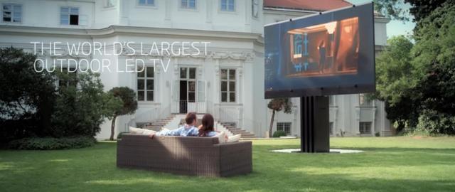 全球最大电视301英寸,可折叠并隐藏地下,售价150万美元