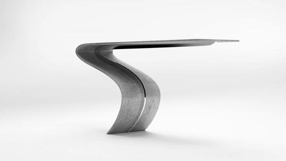 柔软的混凝土桌
