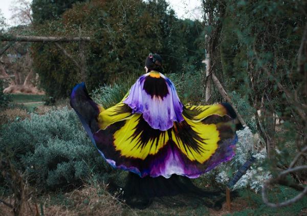 超仙范儿的花瓣披肩