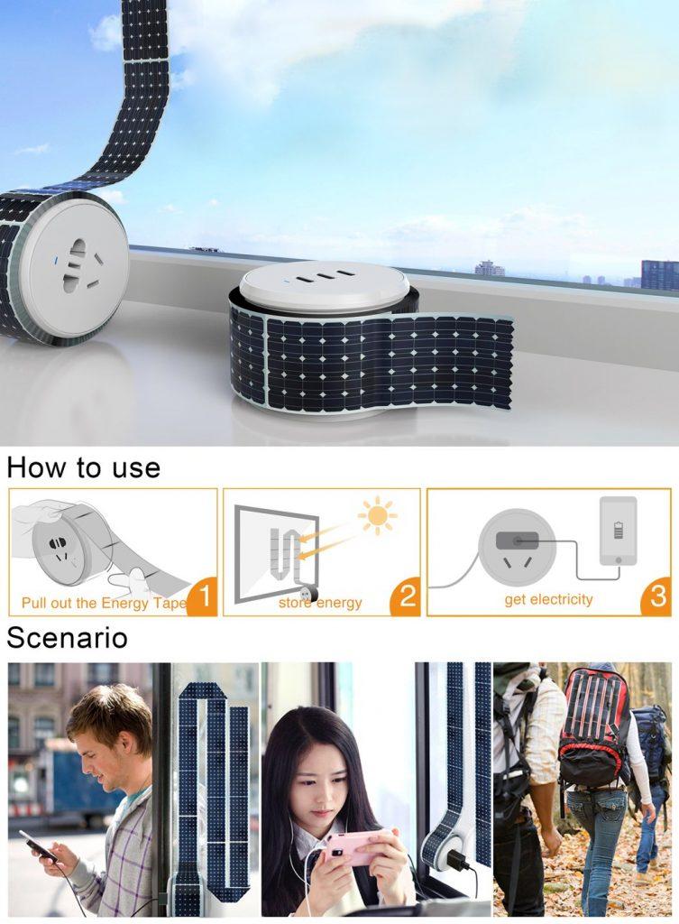 方便的太阳能充电卷