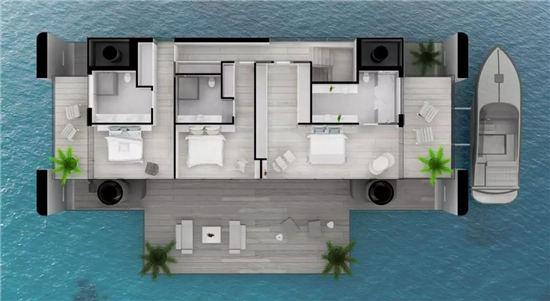 海上漂浮房屋,售价4000万的土豪新玩意